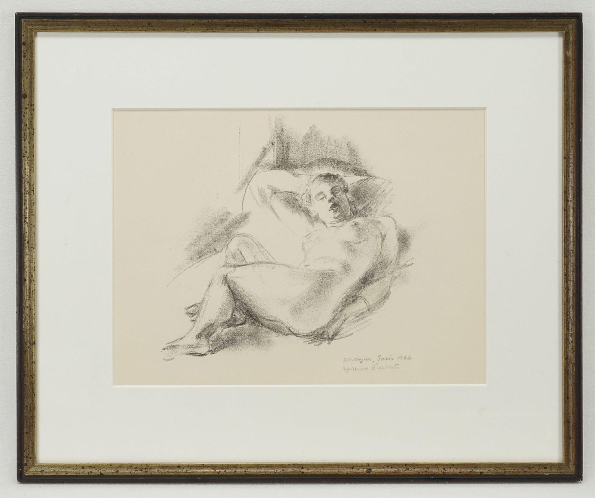 Wilhelm Wagner, Liegender Frauenakt, die Beine nach rechts - Bild 2 aus 3