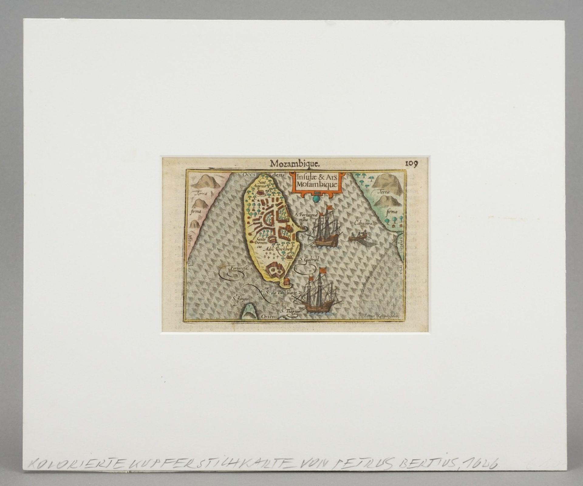 """Pieter van den Keere, """"Mozambique. Insulae & Ars Mosambique"""" (Landkarte von Mosambik) - Bild 2 aus 4"""