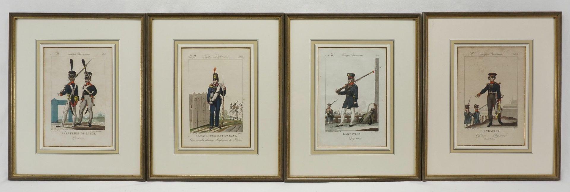 Troupes Prusiennes (Vier Stiche preußischer Soldaten)