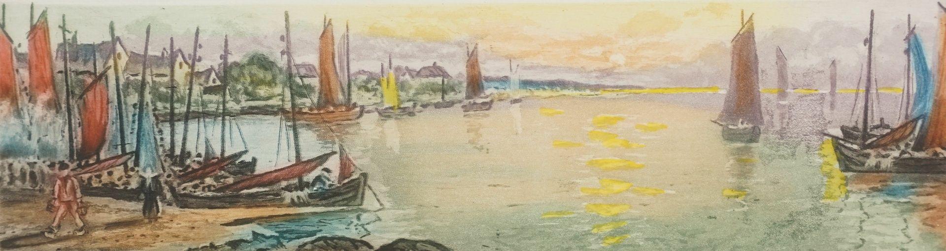 """Leo Thiery ( ), """"Matin en Bretagne"""" (Morgenstimmung in der Bretagne)"""