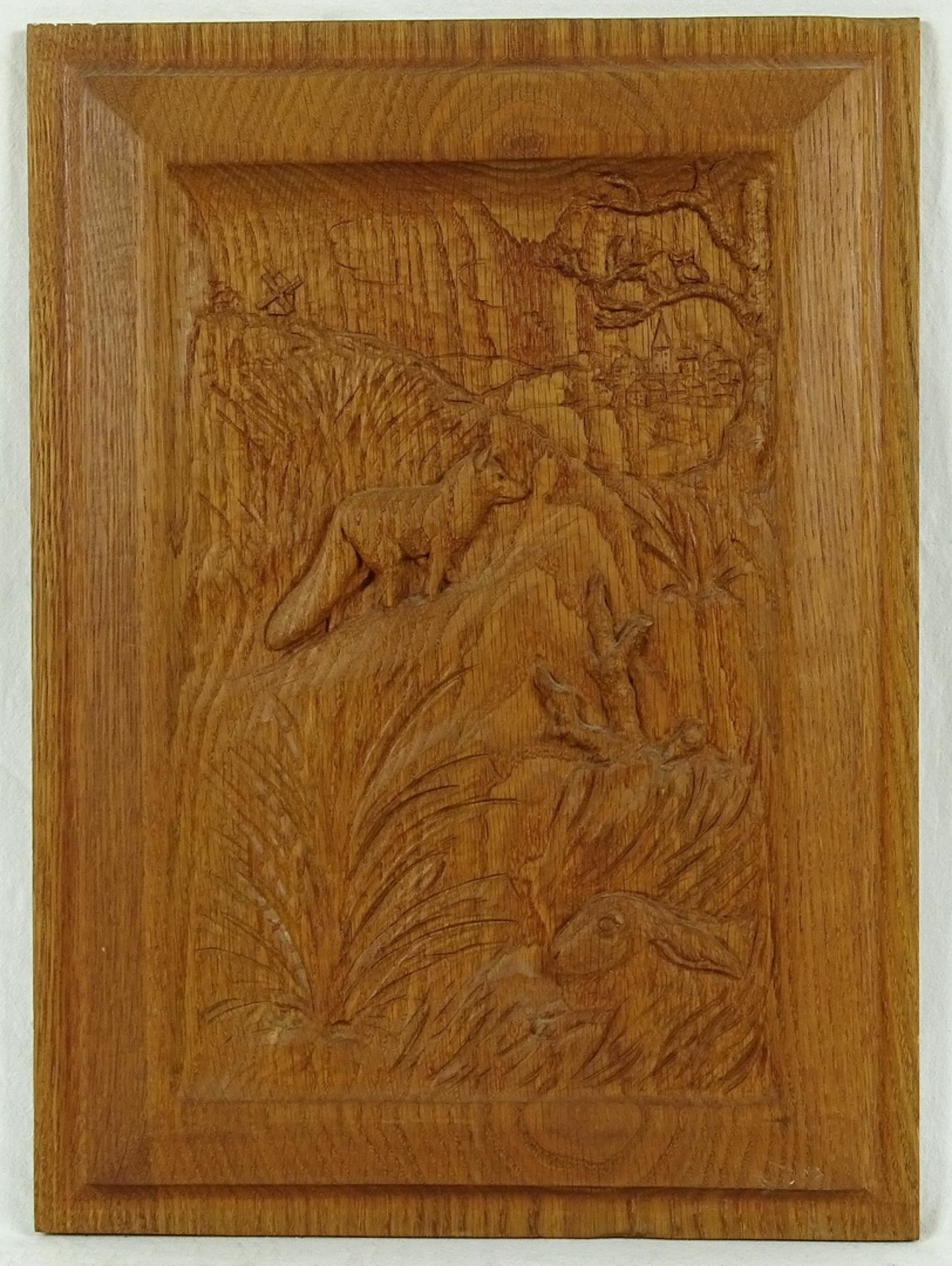 Vier jagdlich verschnitzte Holzbilder - Bild 4 aus 5