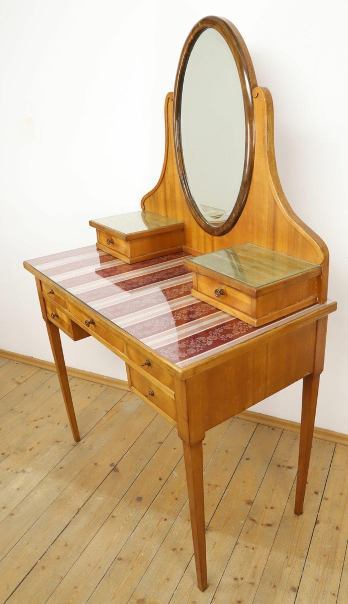 Frisierkommode mit Aufsatzspiegel und Stuhl - Bild 3 aus 8
