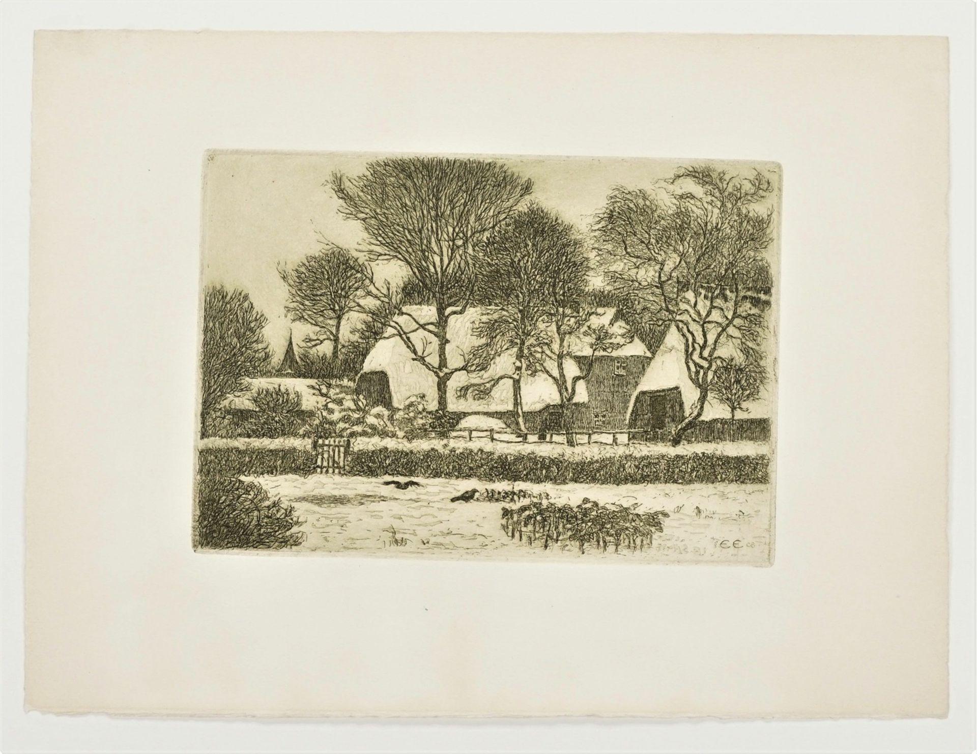 Ernst Eitner, Norddeutsches Dorf im Winter - Bild 3 aus 5