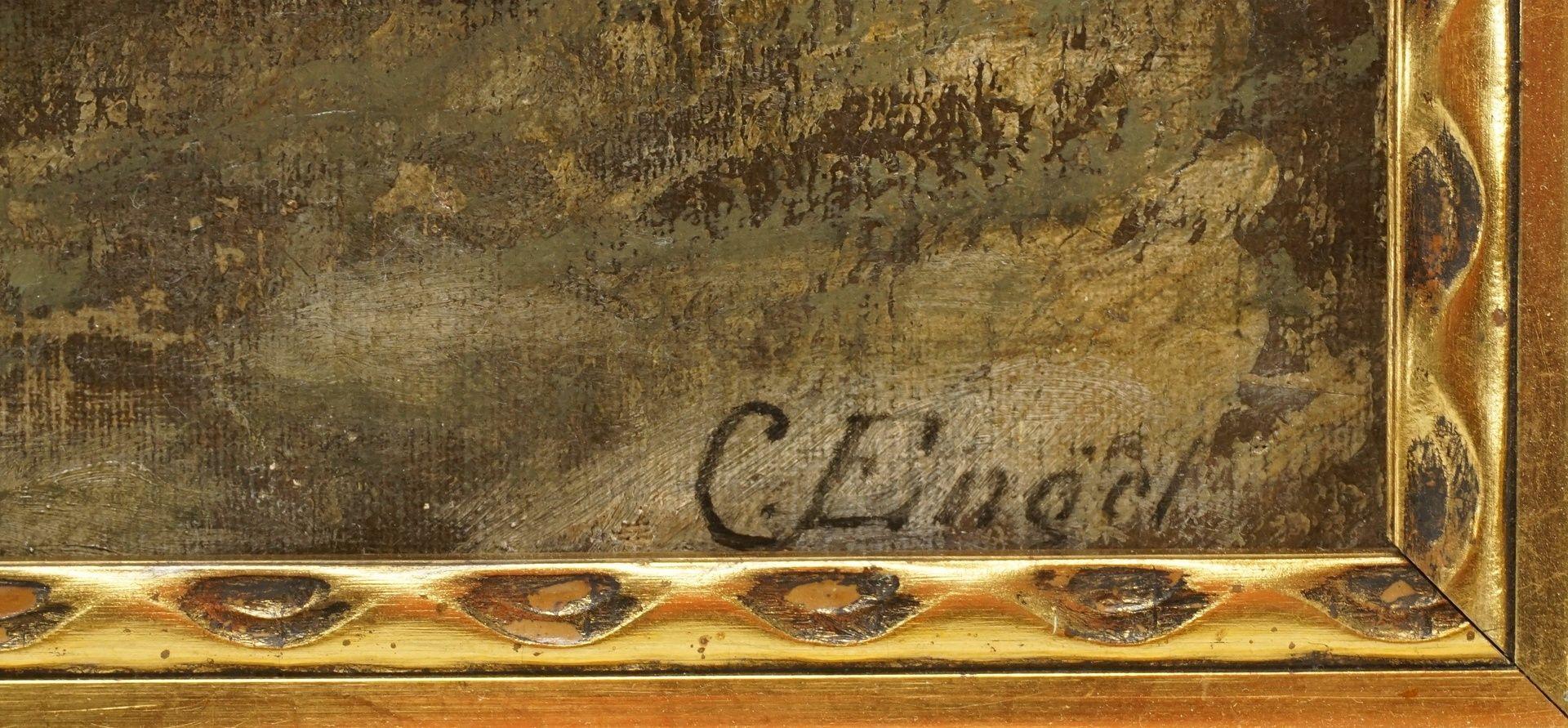 """C. Engel, """"Abendliche Heimkehr mit Esel und Spitz"""" - Bild 4 aus 4"""