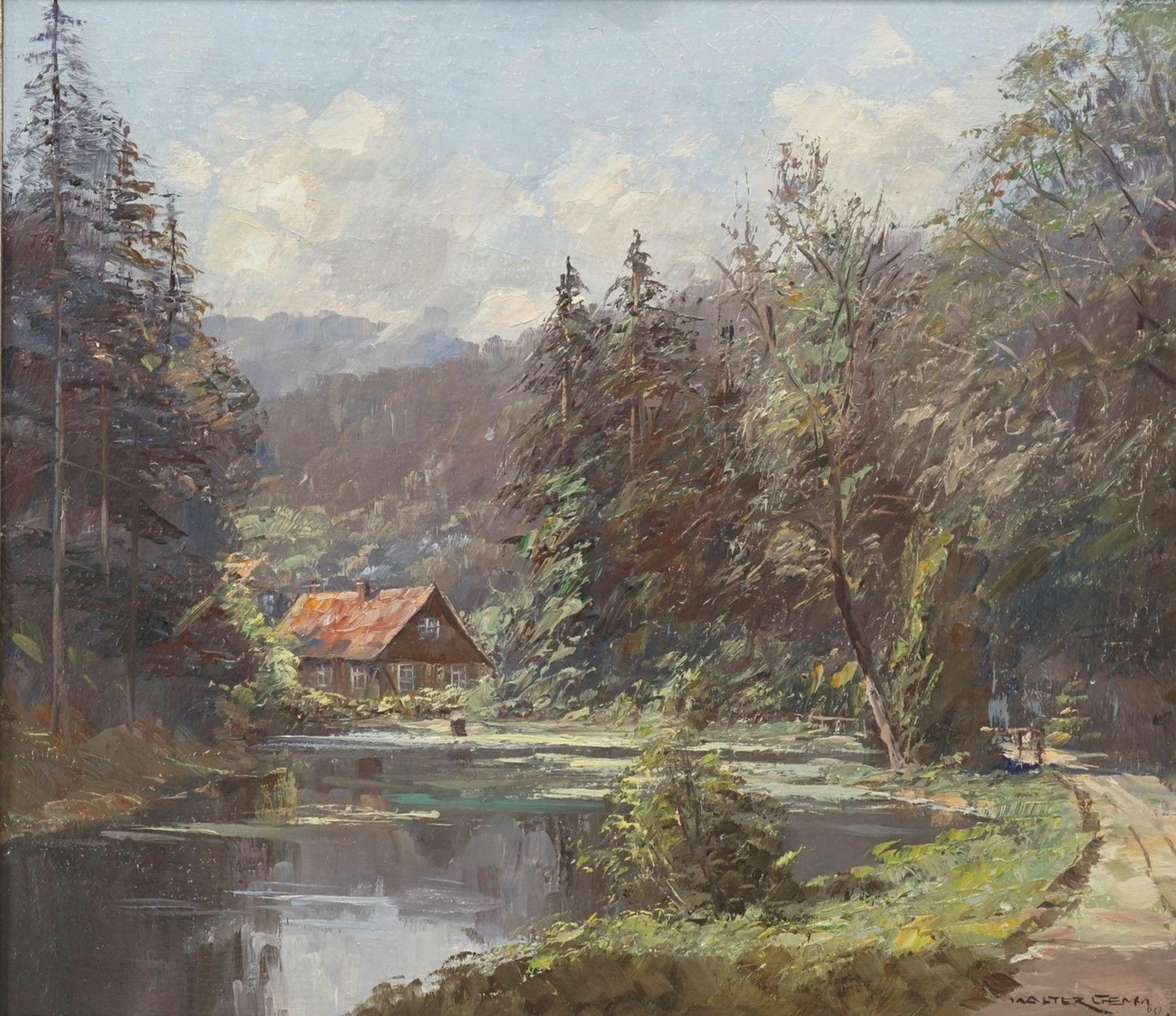 """Walter Gemm, """"Christianental mit Forsthaus bei Wernigerode im Harz"""" - Bild 2 aus 4"""
