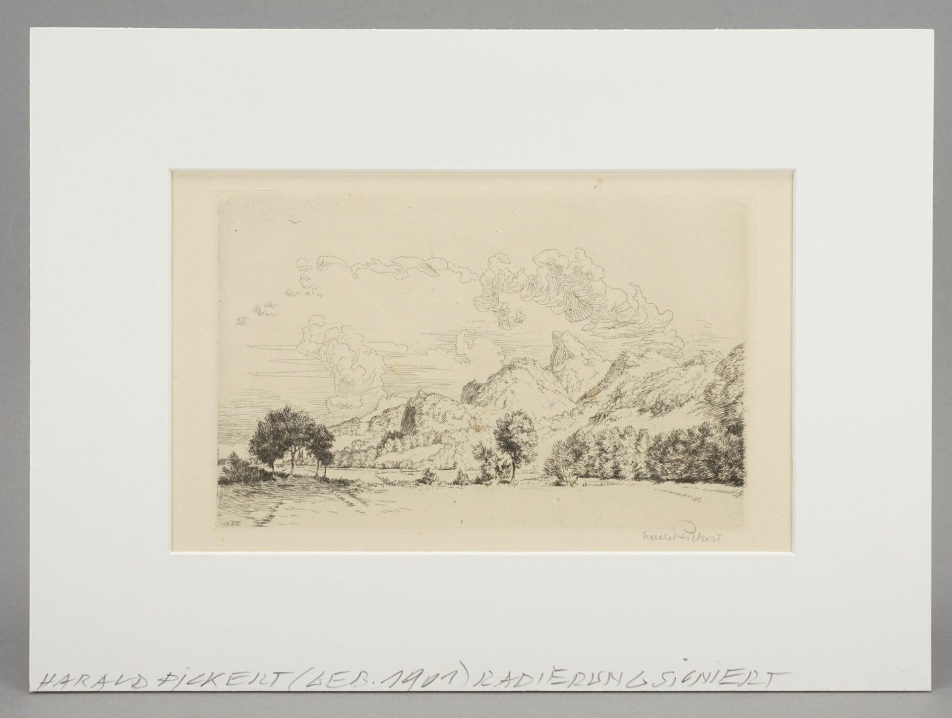 Harald Pickert, Gebirgige Landschaft mit Kirche - Bild 2 aus 4