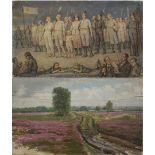"""Bendix Passig, Doppelbild """"Gemeinsam in die Zukunft"""" und """"Heidelandschaft"""""""