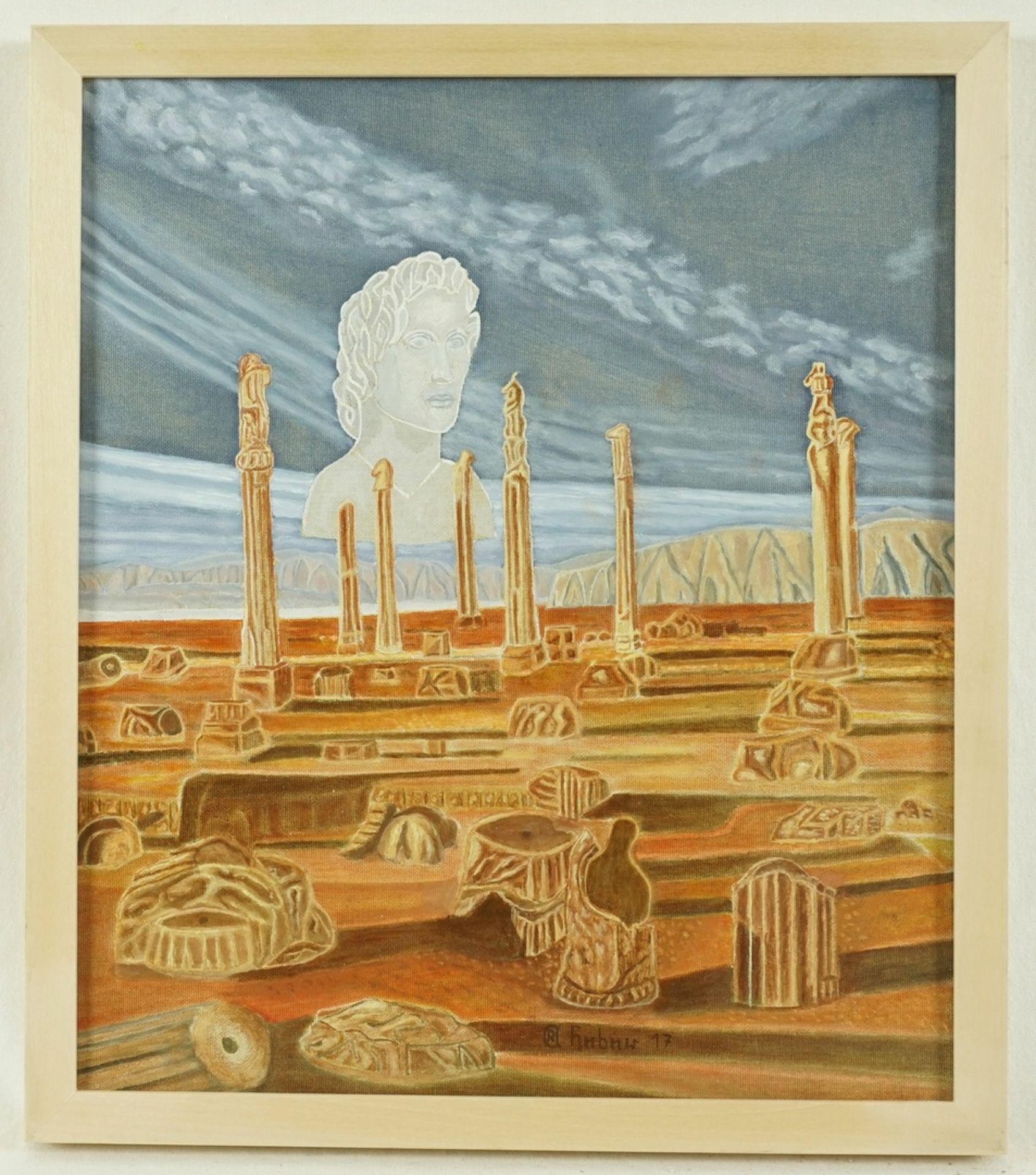 Rudolf-Andreas Heber, Allegorie auf die Vergänglichkeit - Bild 2 aus 4