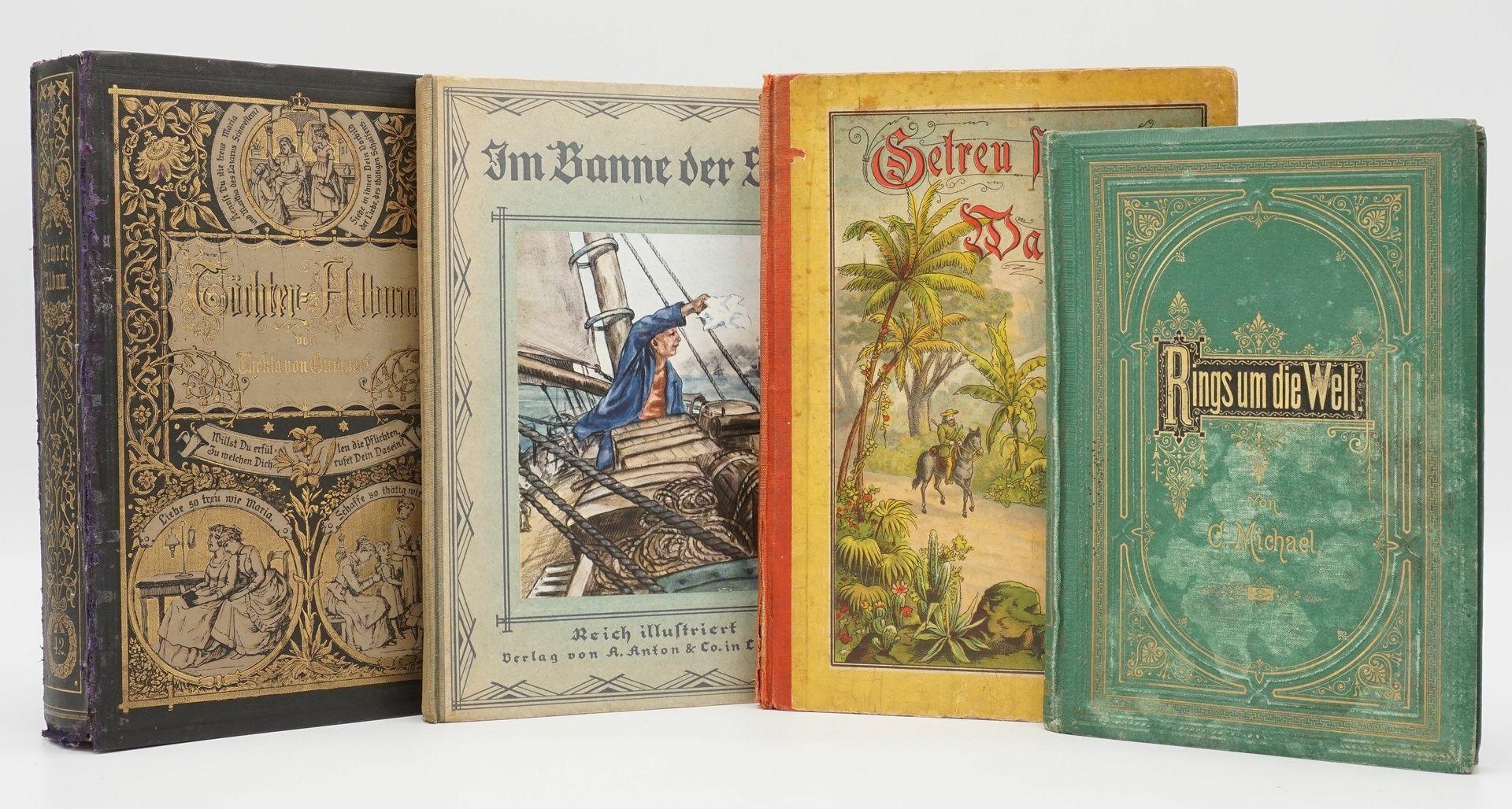 Vier illustrierte Jugendbücher