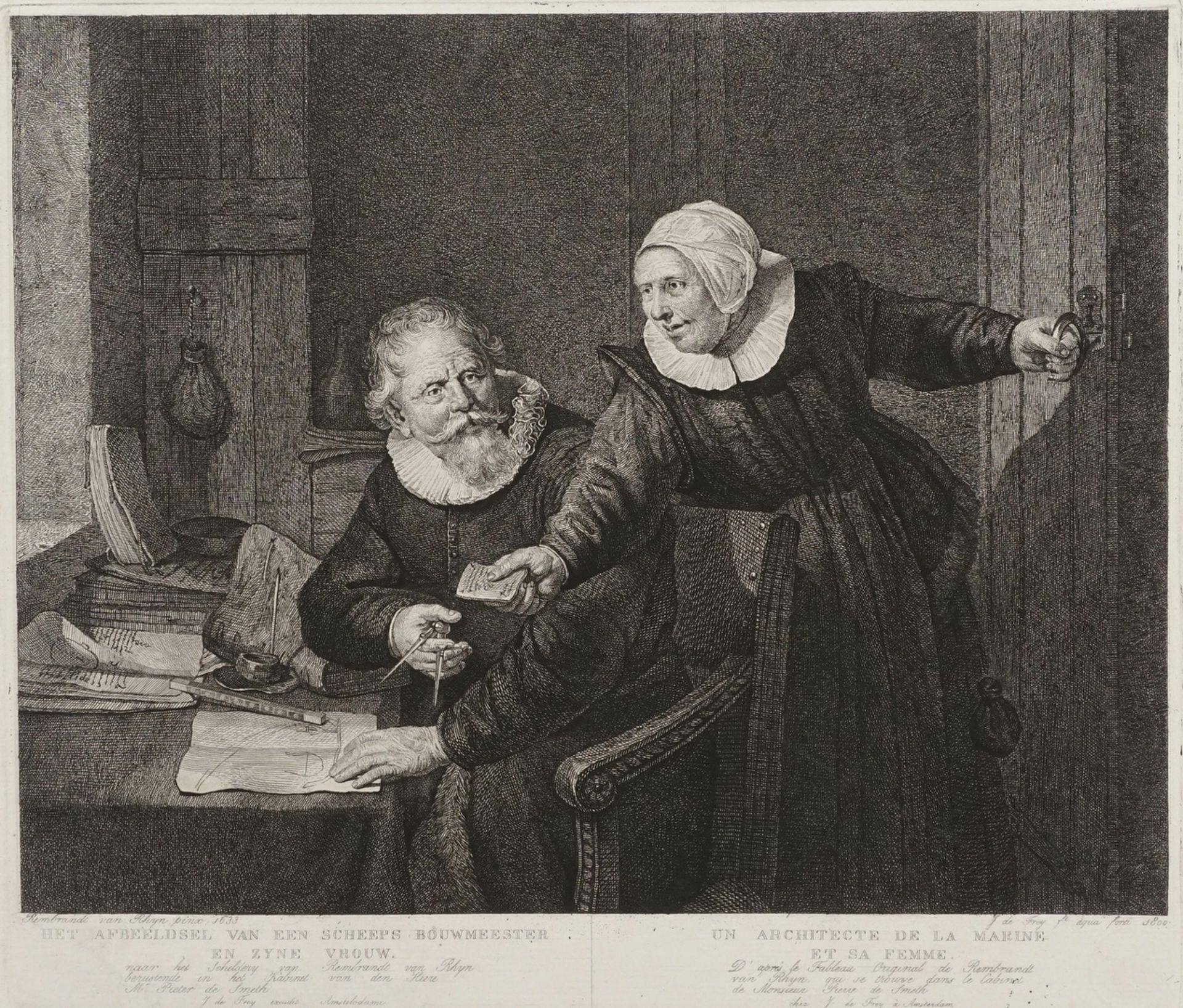 "Rembrandt Harmenszoon van Rijn, ""De Scheeps Bouwmeester"" (Die Schiffsbauer)"