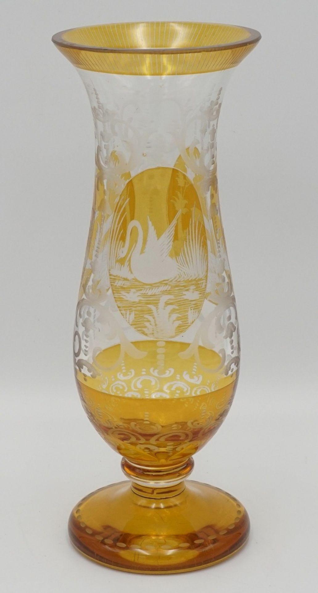 Kristallvase mit Tiermotiven - Bild 3 aus 4