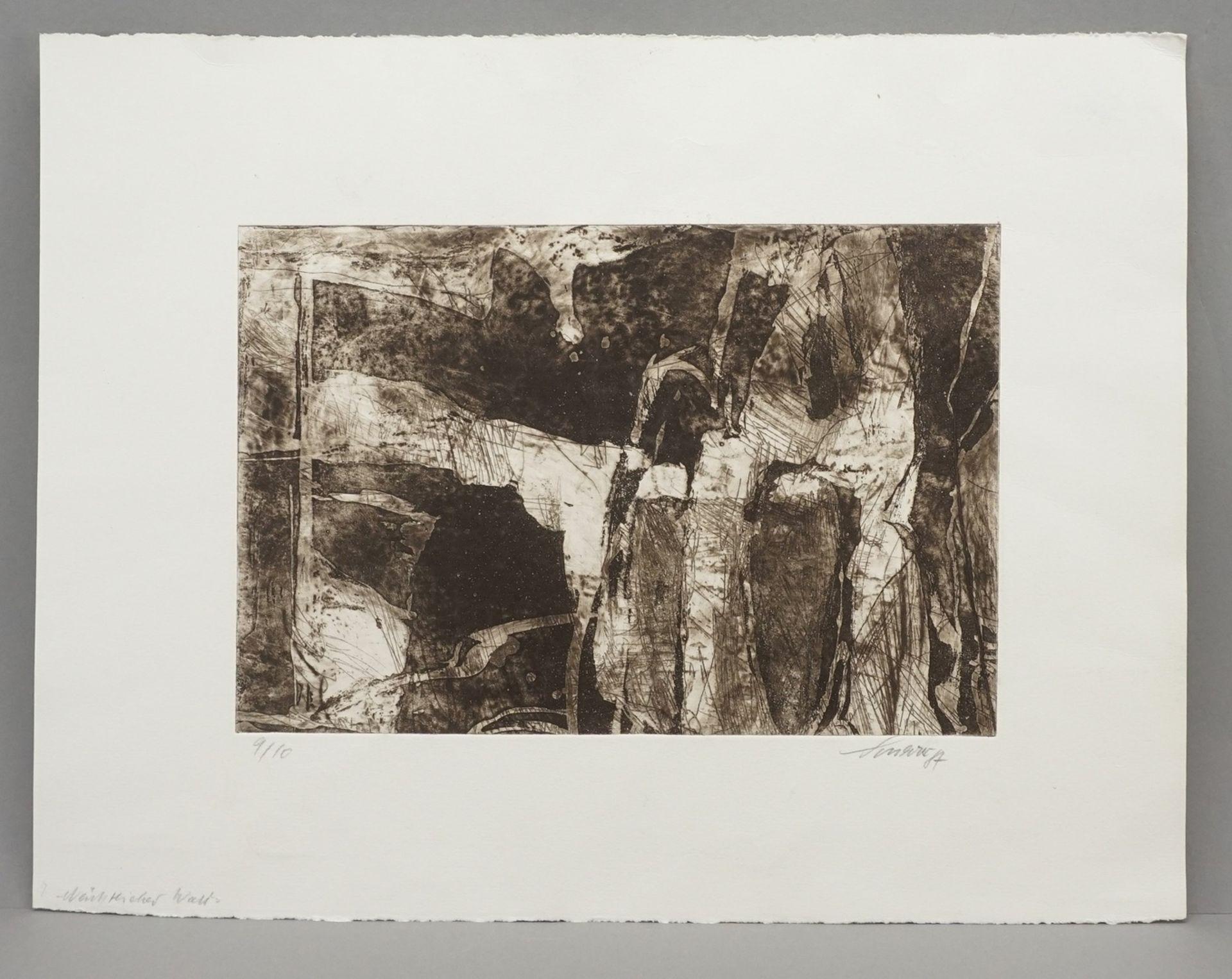 """Heinz Scharr, """"Nächtlicher Wald"""" - Bild 2 aus 3"""