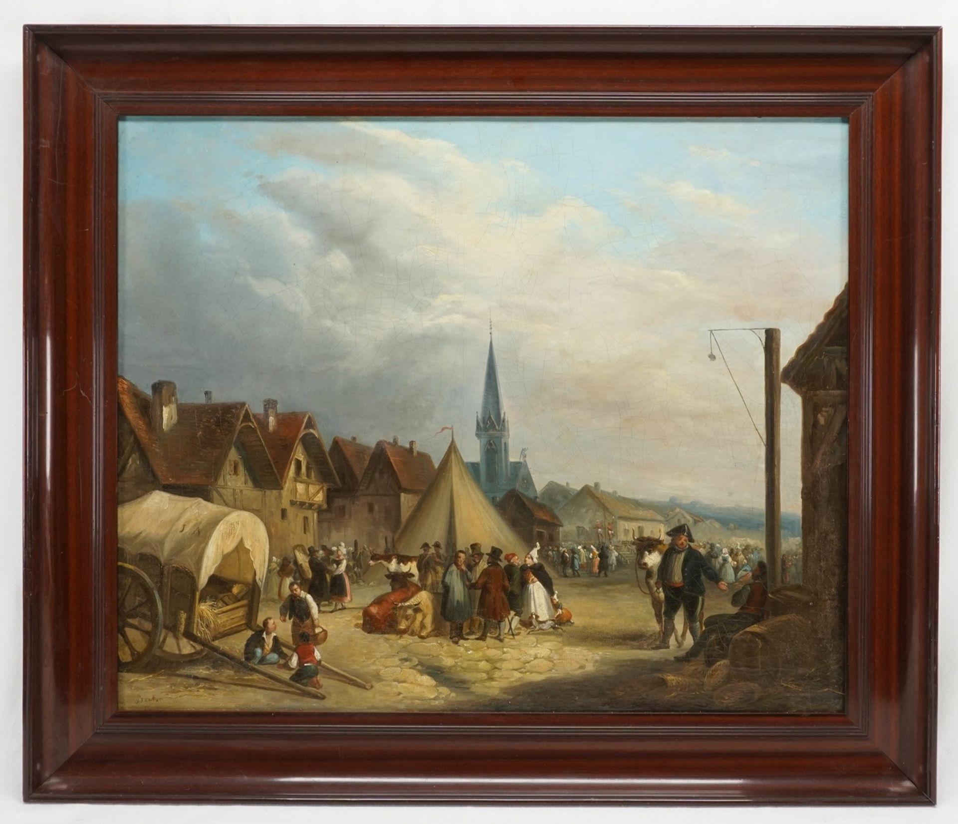 """Berton, """"Jahrmarkttreiben in der Normandie"""" - Bild 2 aus 4"""