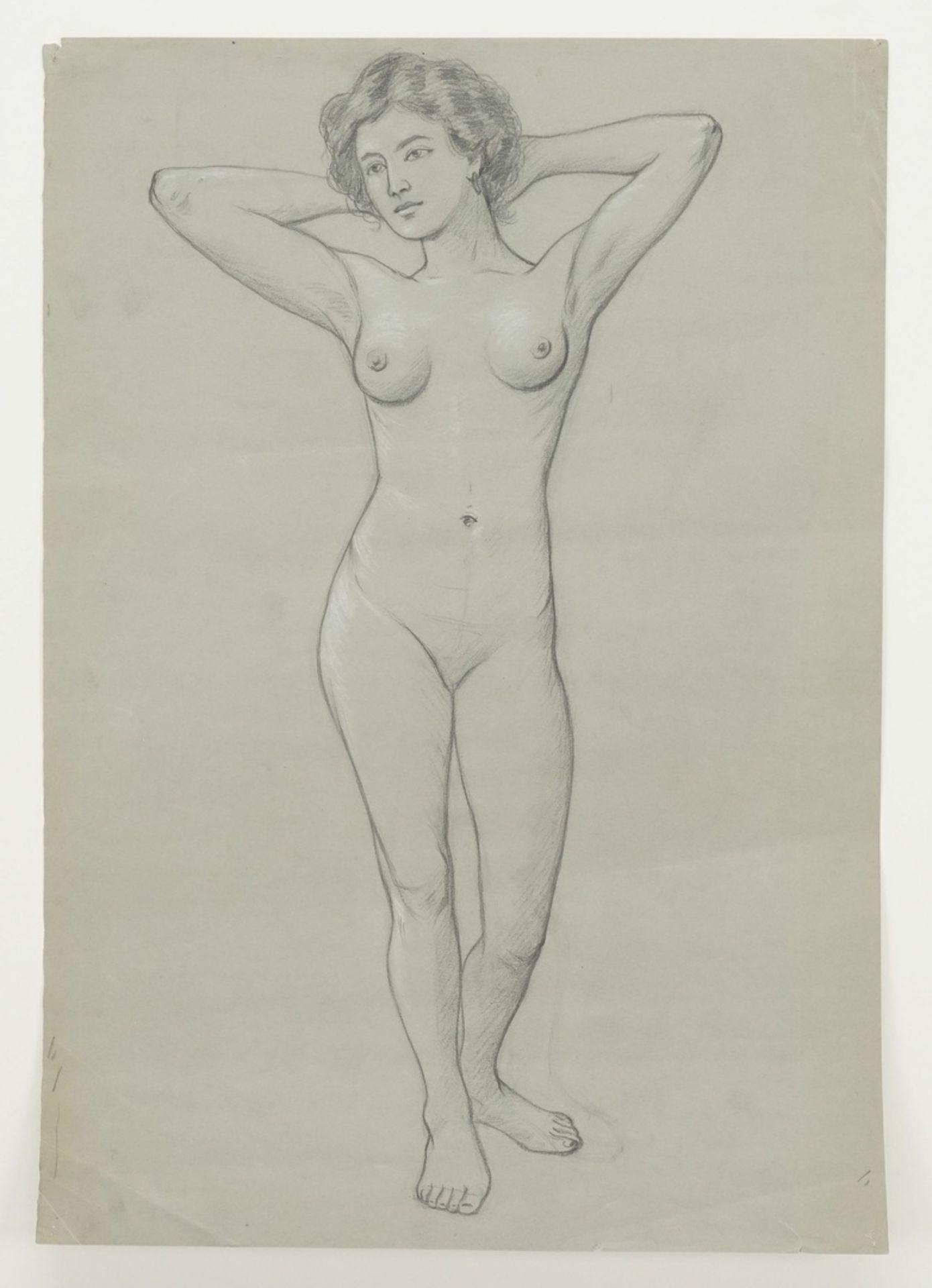 Unbekannter akademischer Künstler, Zwei weibliche Akt-Darstellungen - Bild 2 aus 3