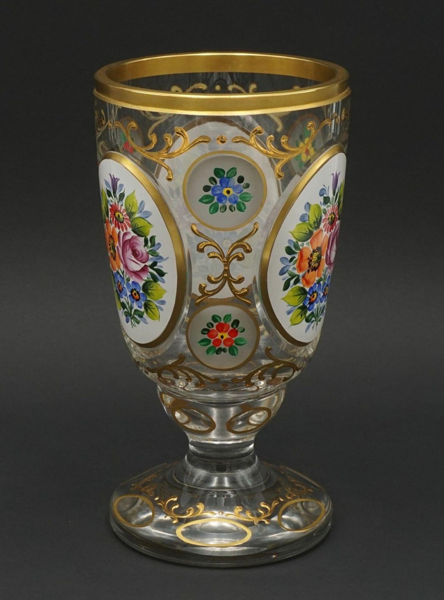 Ranftglas mit Emaillemalerei, 20. Jh. - Bild 2 aus 3