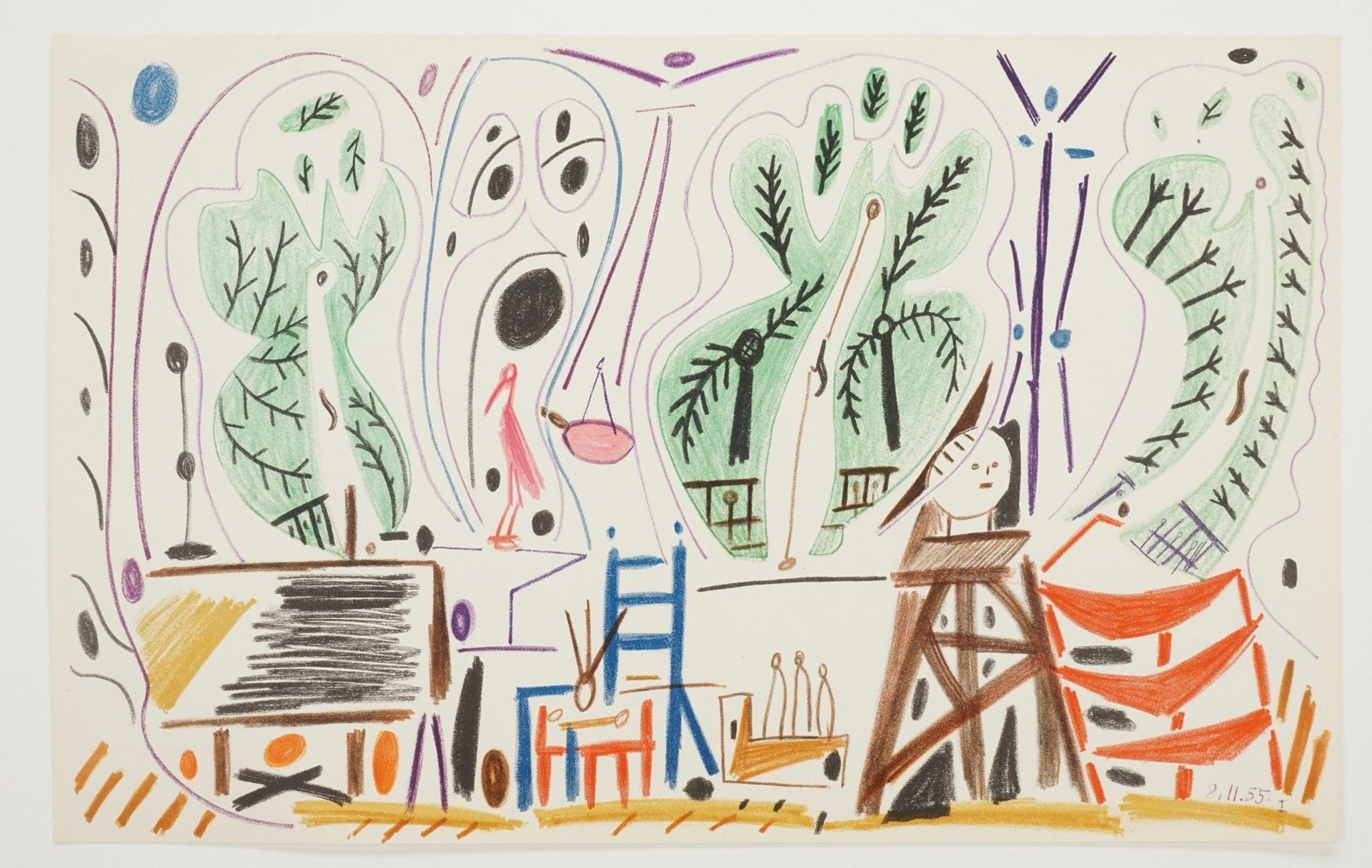Pablo Picasso, Atelierszene (La Californie) - Bild 3 aus 3