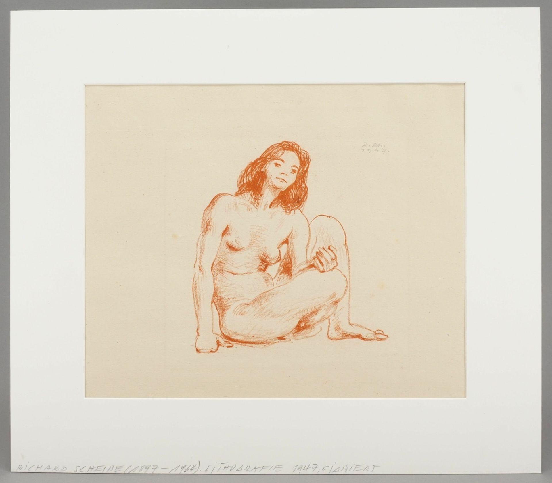 """Richard Scheibe, """"Sitzender weiblicher Akt"""" - Bild 2 aus 4"""