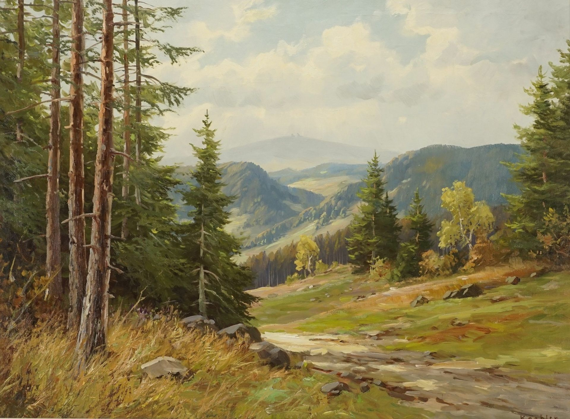 Koehler, Harzlandschaft mit Brockenblick
