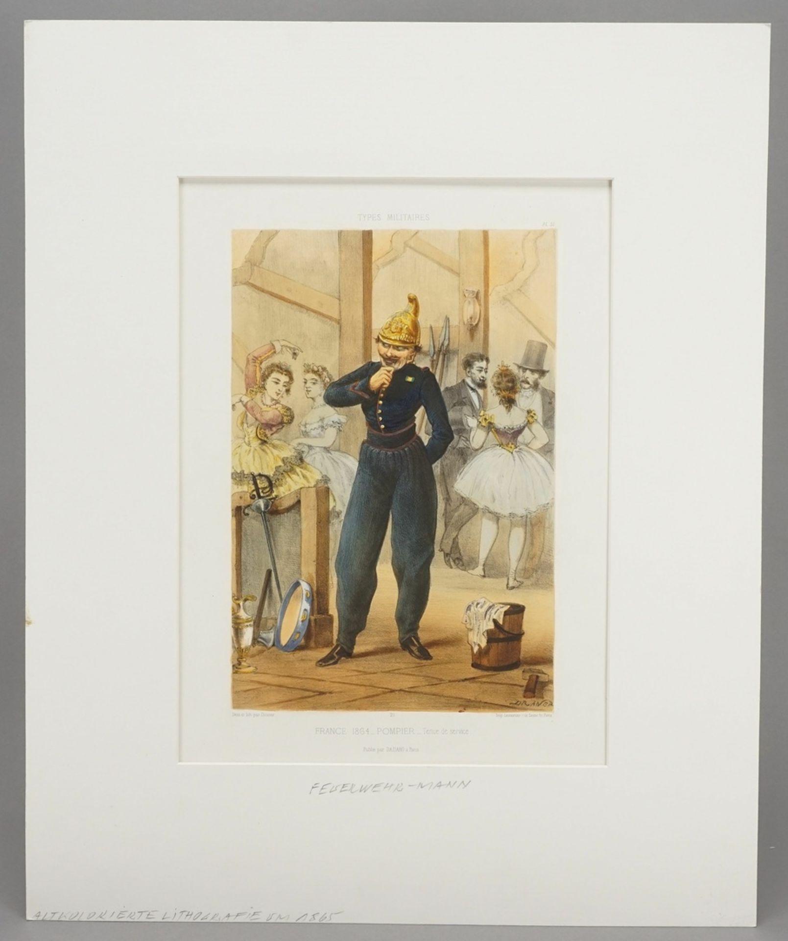"""Jules Draner, """"Pompier - tenue de service"""" (Feuerwehrmann - in Dienstkleidung) - Bild 2 aus 3"""