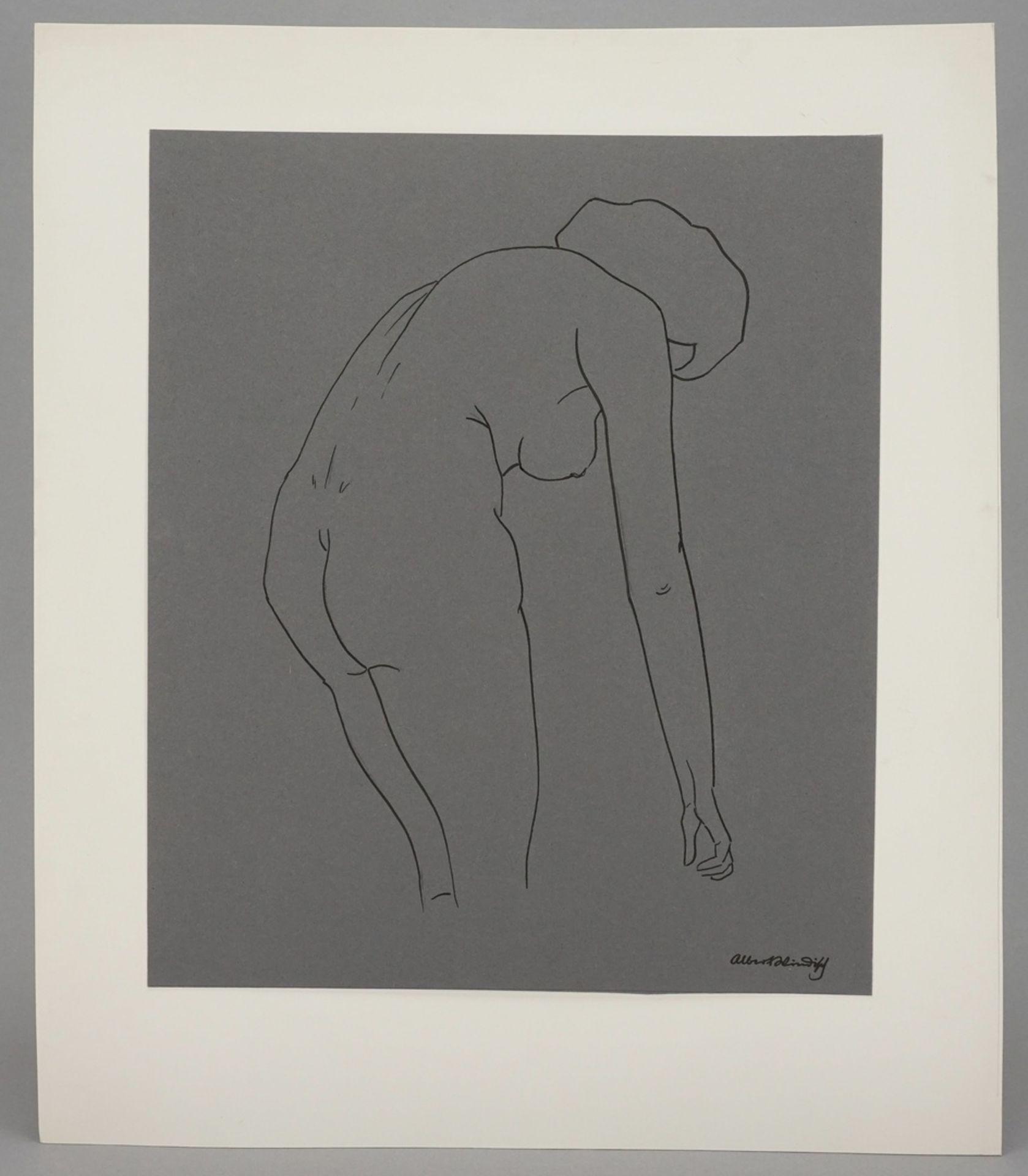 Albert Windisch, Weiblicher Rückenakt, nach vorn gebeugt - Bild 2 aus 3