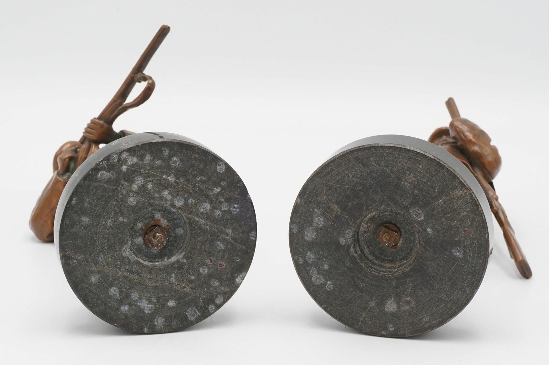 Zwei Jäger-Figuren, um 1900 - Bild 3 aus 4