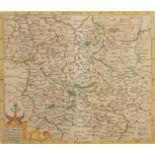 David Custos (Custodis), Landkarte des Herzogtums Braunschweig und umliegender Landschaften