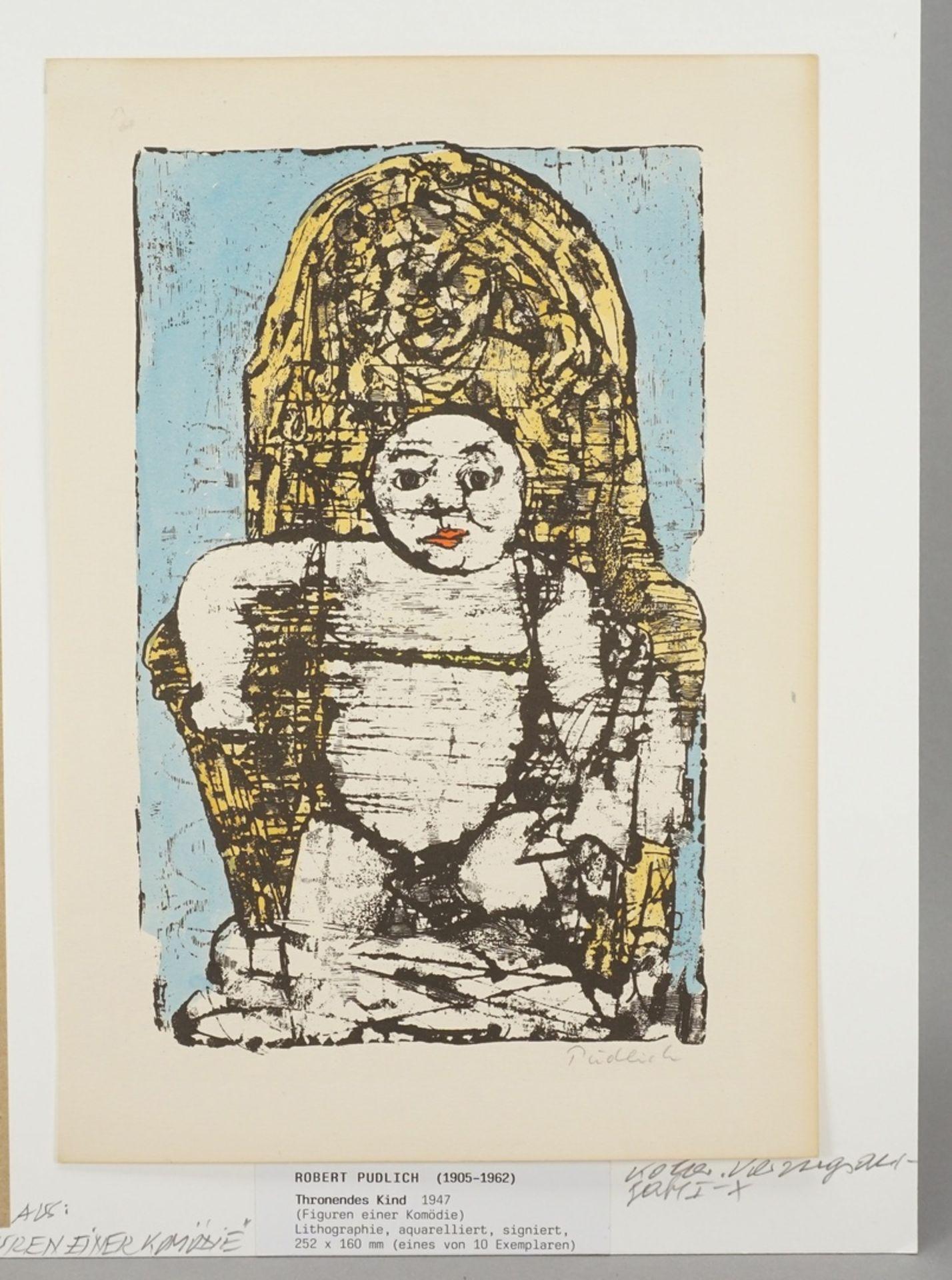 """Robert Pudlich, """"Thronendes Kind"""" - Bild 3 aus 3"""
