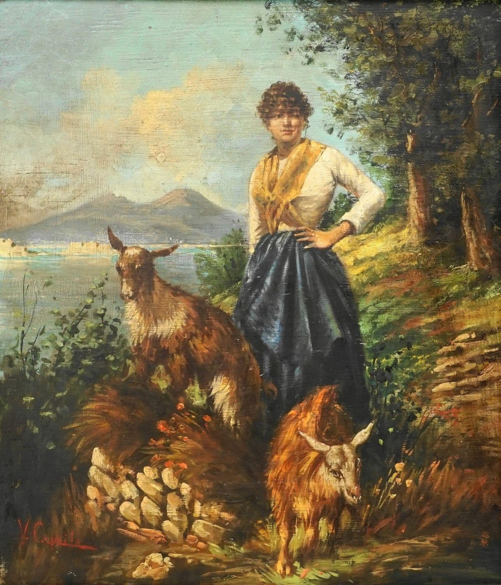 Vincenzo Caprile, Die Ziegenhirtin