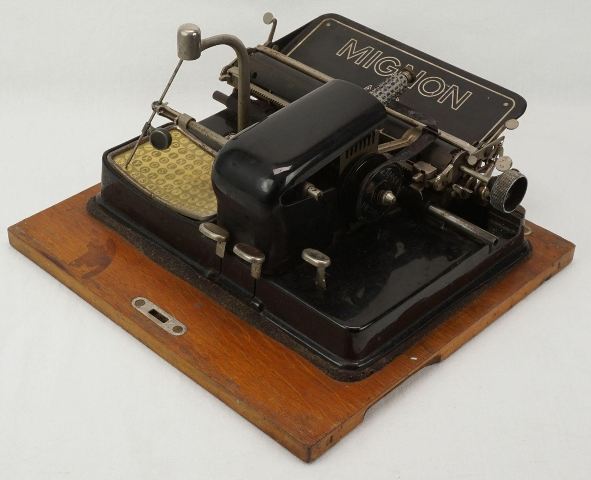 AEG Mignon Zeiger Schreibmaschine, um 1920 - Bild 2 aus 3