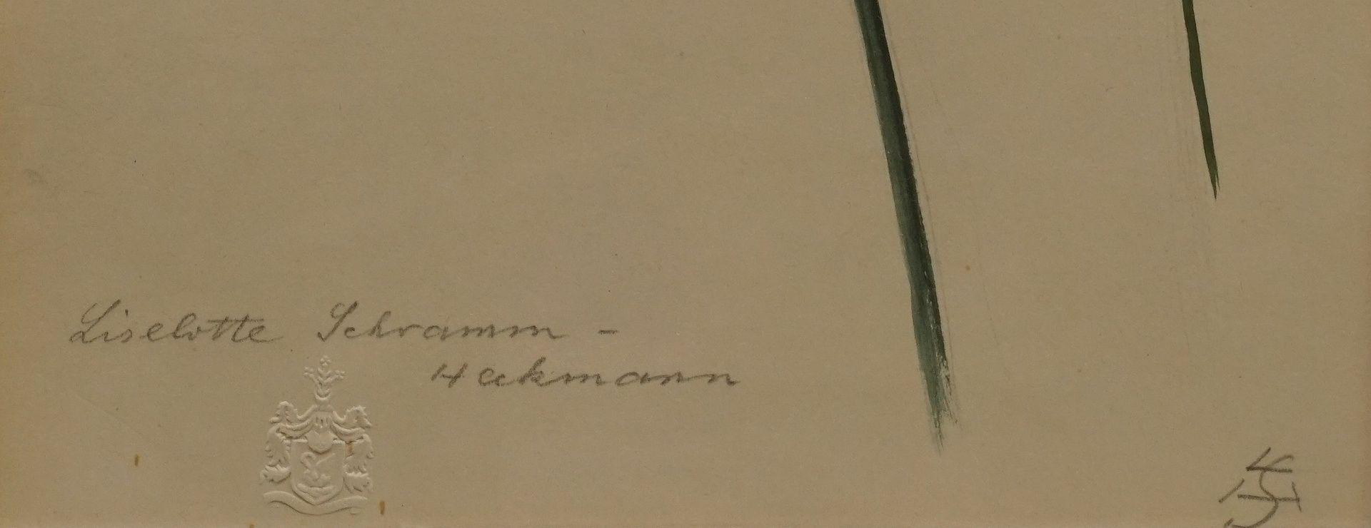 """Liselotte Schramm Heckmann, """"Gladiole und Sonnenhut"""" - Bild 3 aus 3"""