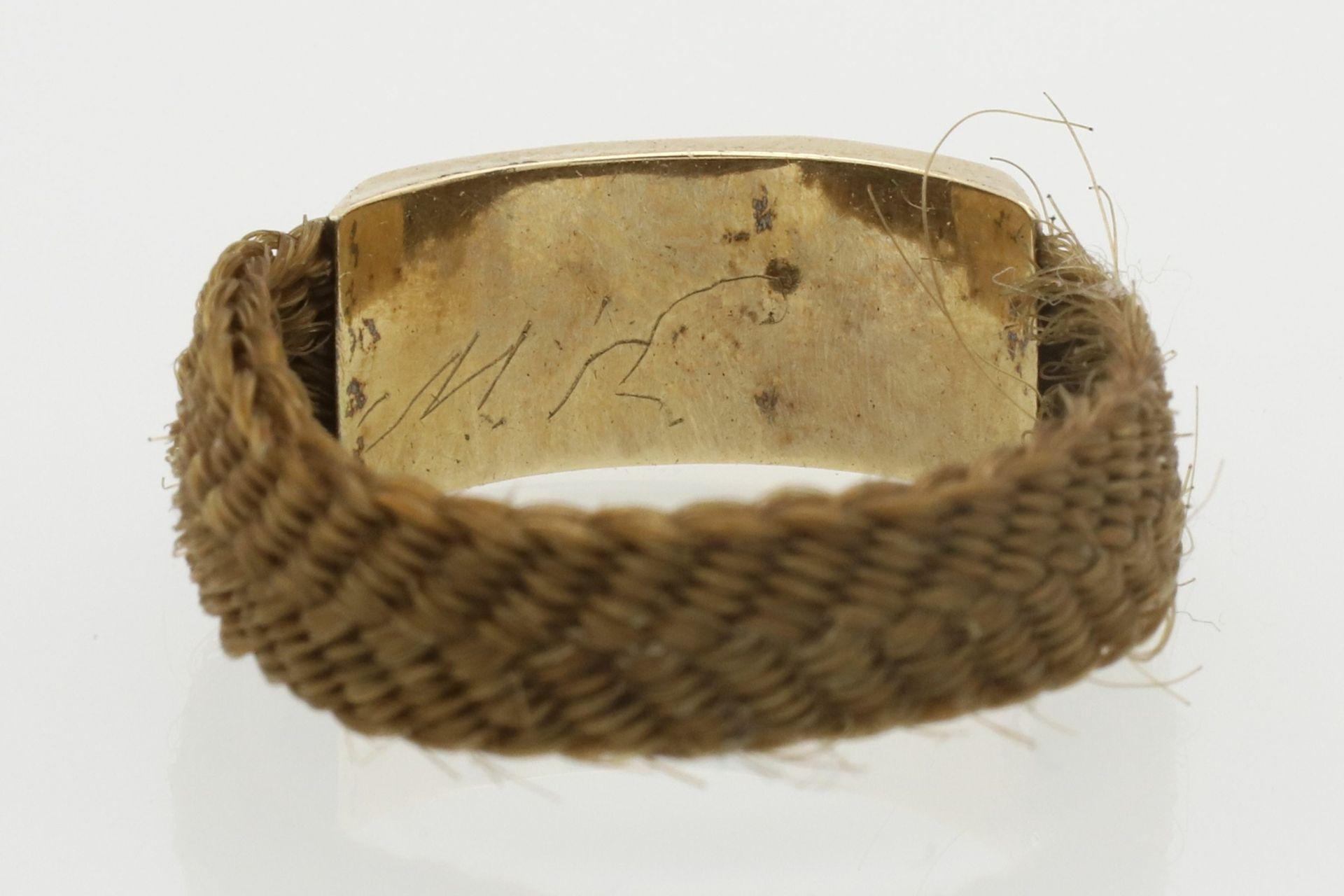 Biedermeier Haarring mit Glaube, Liebe, Hoffnung Symbolik - Bild 5 aus 5