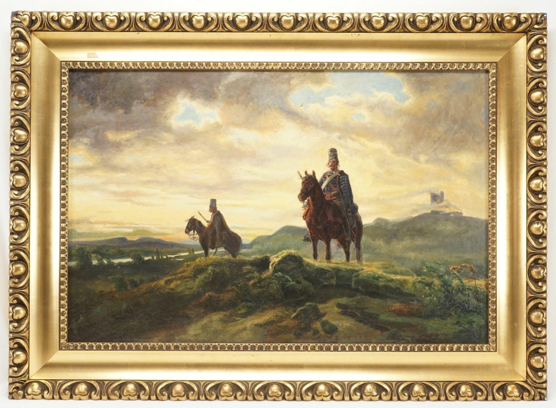 """Historienmaler des frühen 20. Jhs., """"Vedette (Schlacht bei Rossbach)"""", nach Wilhelm von Camphausen - Bild 2 aus 3"""