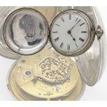 Bennet Wing London Spindeltaschenuhr mit Sprungdeckel, 1837