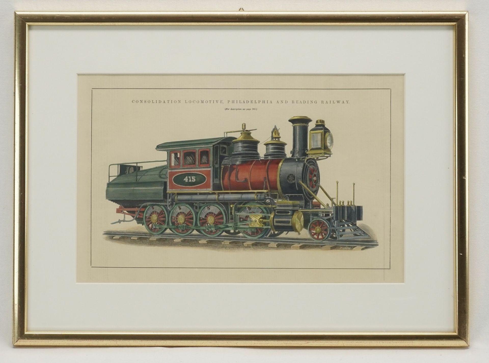 "Joseph Swain, ""Consolidation Locomotive Philadelphia and Reading Railway"" - Bild 2 aus 2"
