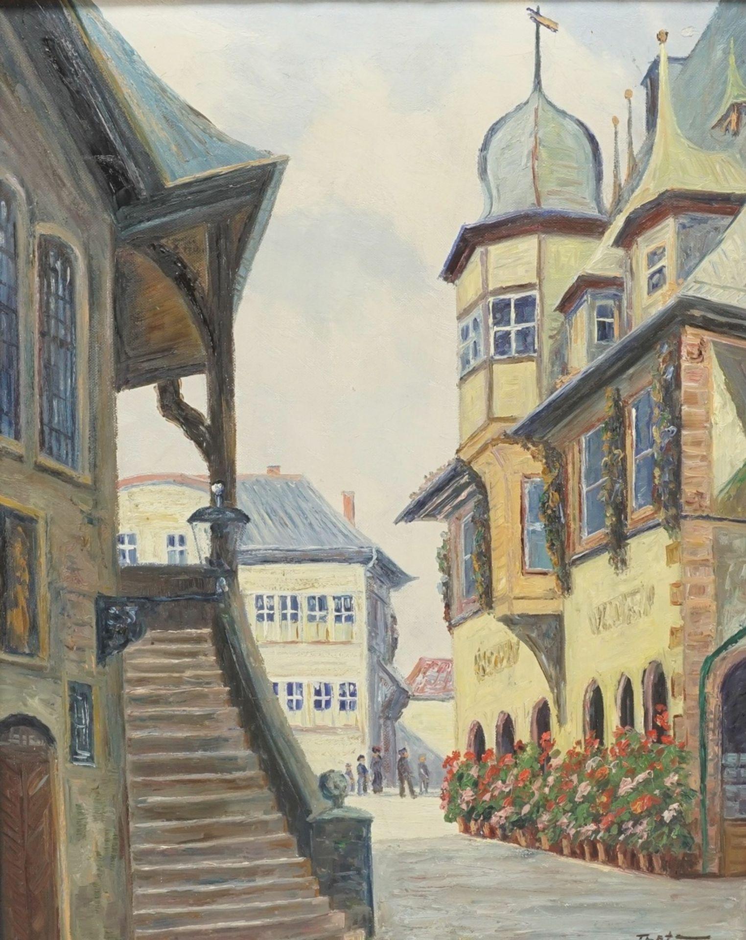 Fritz Thate, Die Rathaustreppe in Goslar - Bild 2 aus 4