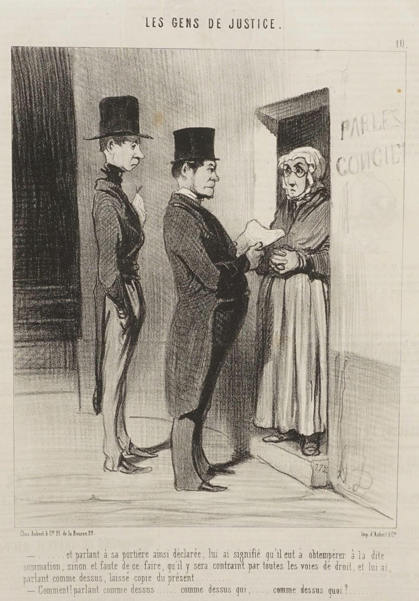 """Honoré Daumier, """"Les Gens de Justice"""" (Die Juristen), Tafel 10"""