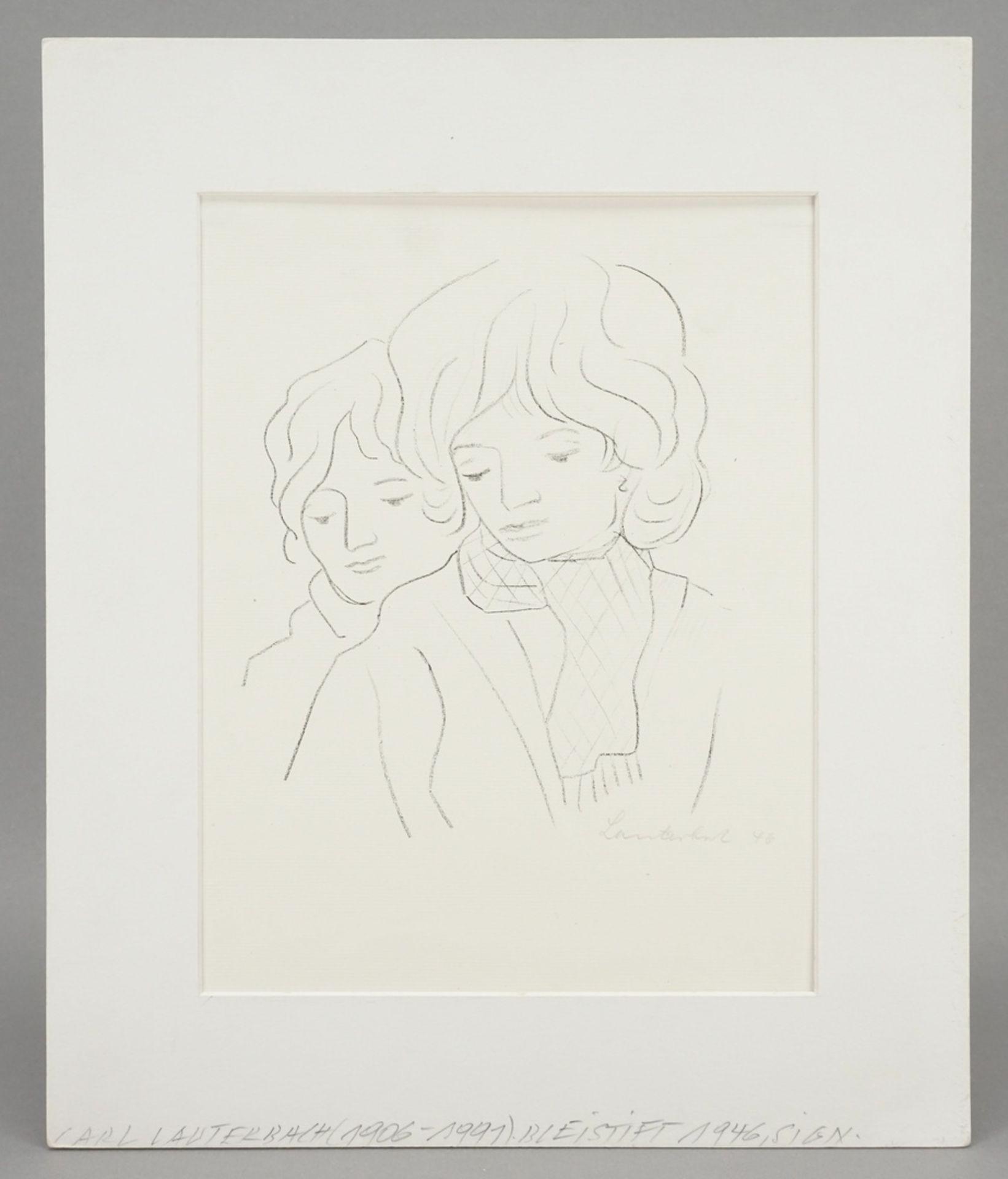 Carl Lauterbach, Zwei Frauenköpfe - Bild 2 aus 4