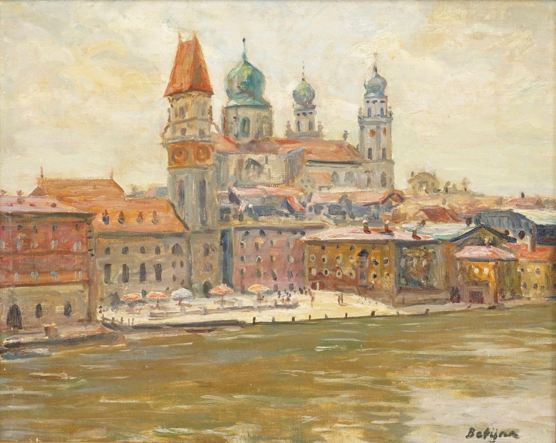 Paul Betyna, Teilansicht von Passau mit dem Dom