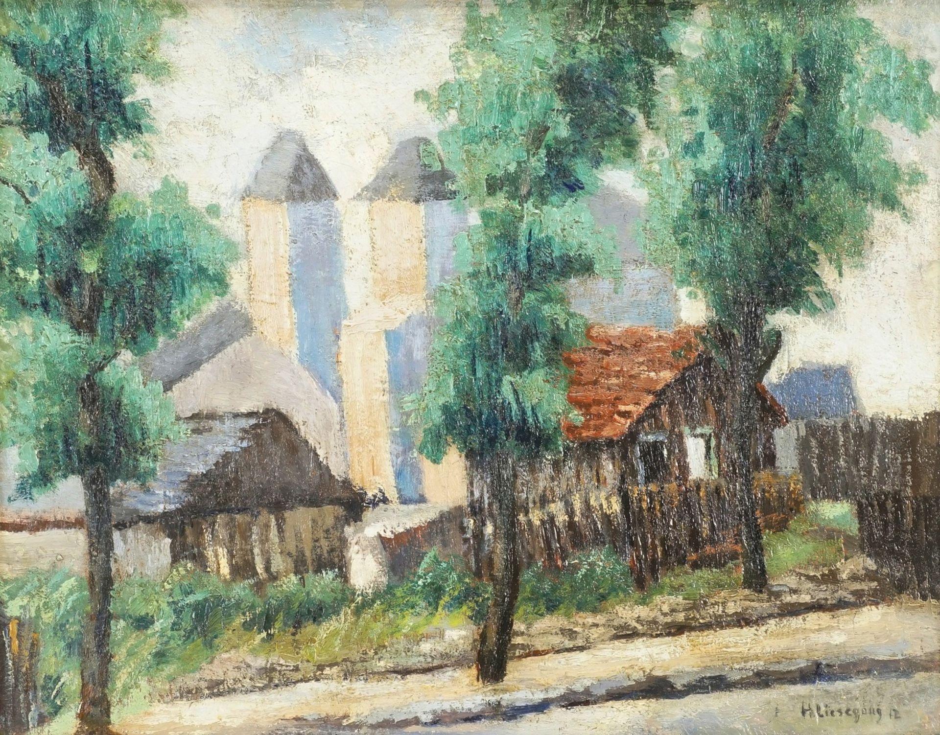 Helmuth Liesegang, Ortsansicht mit Blick auf die Kirche