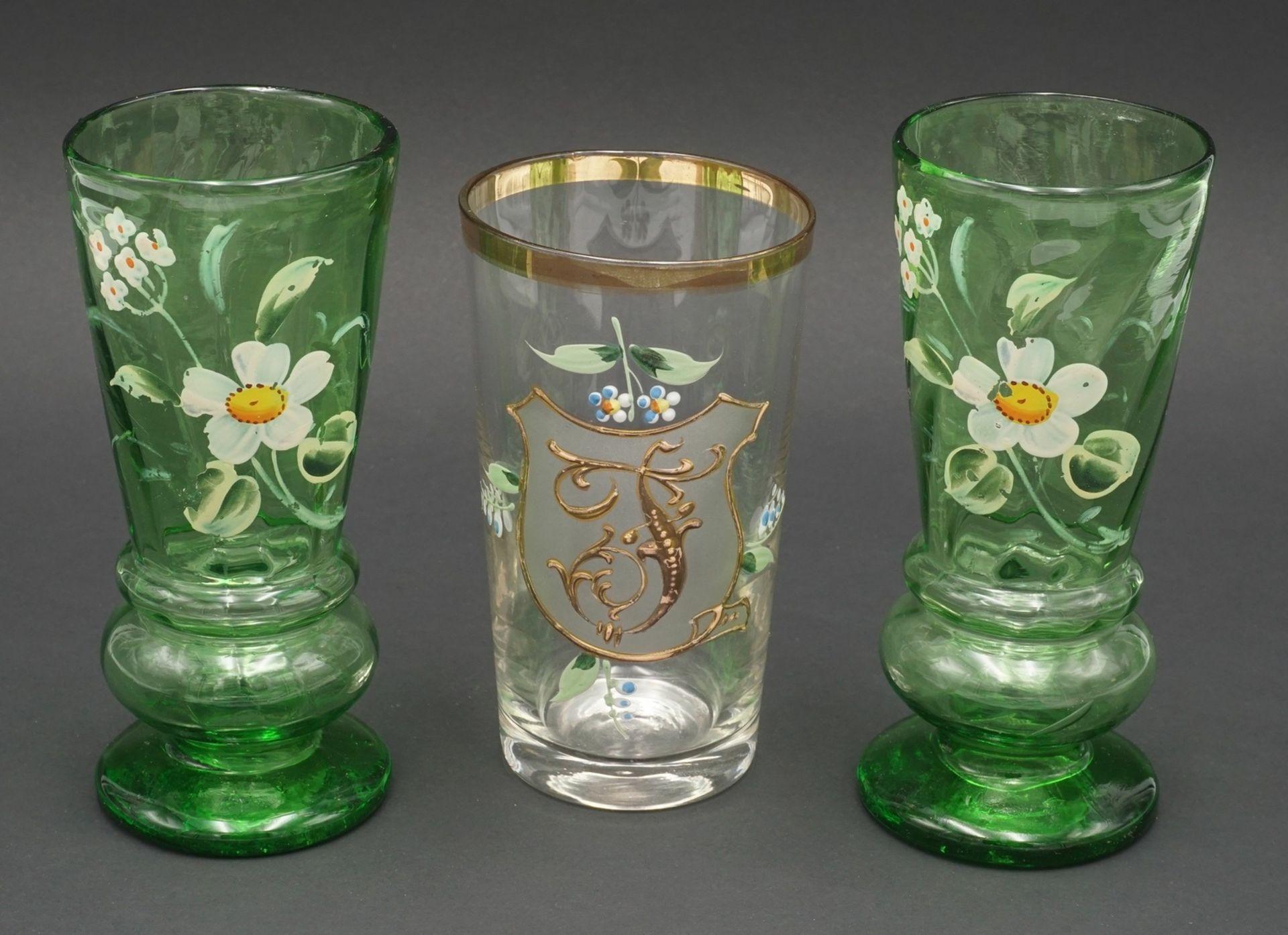 Sechs Gläser, um 1900 - Bild 4 aus 4
