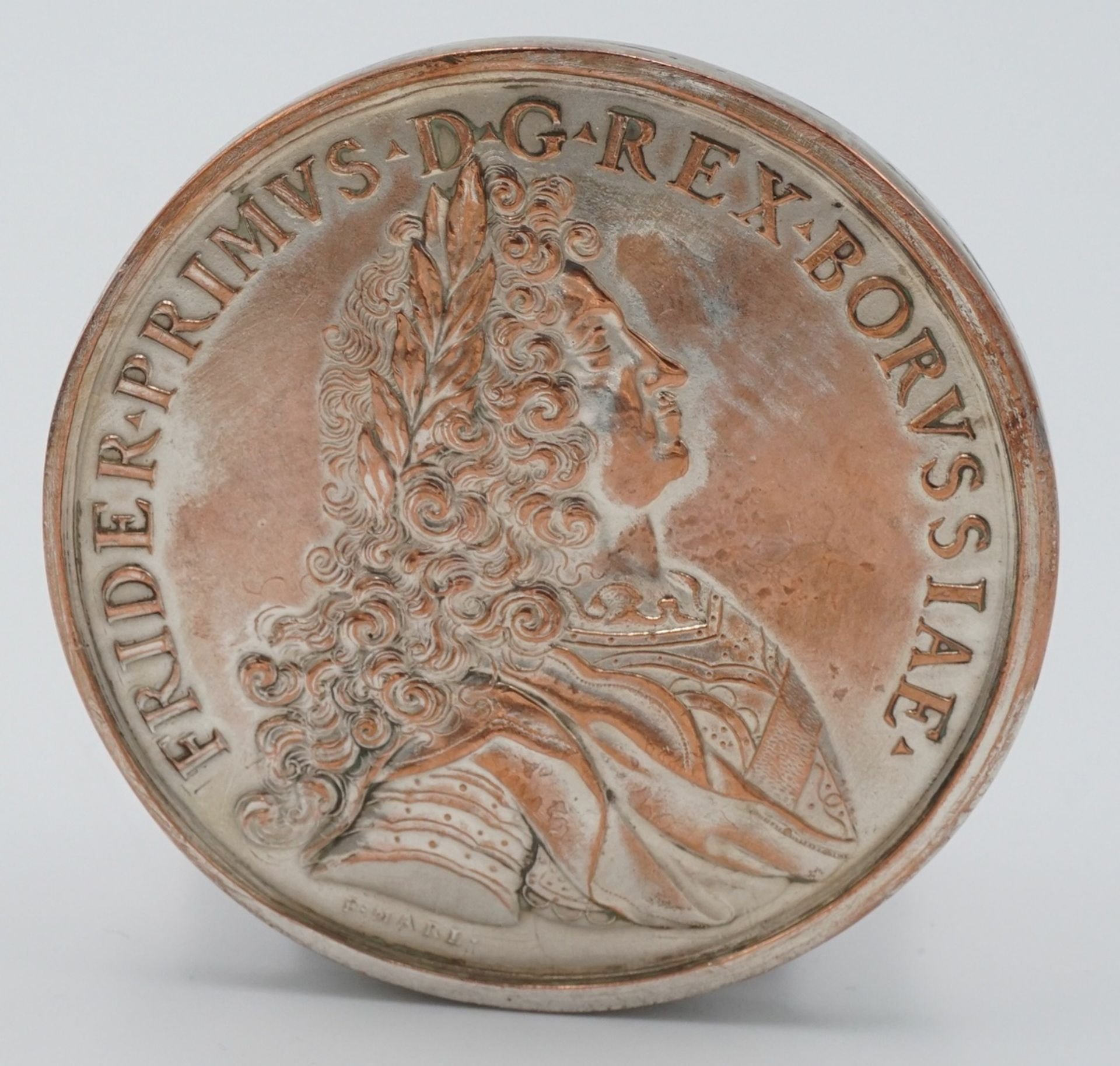 Replik einer Silbermedaille Friedrich Marl, 1701 - Bild 2 aus 3