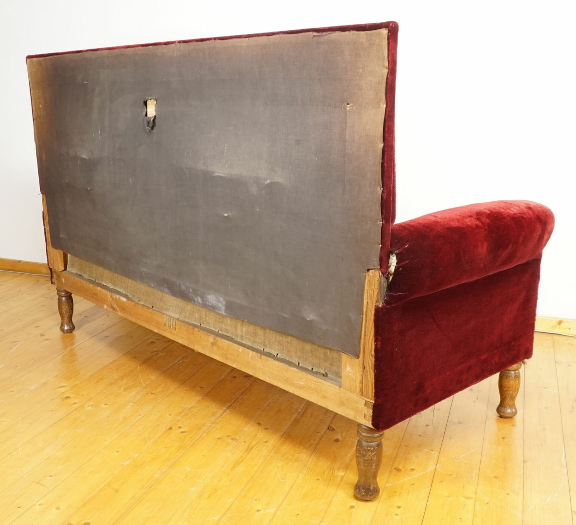 Rotes Gründerzeitsofa - Bild 3 aus 3