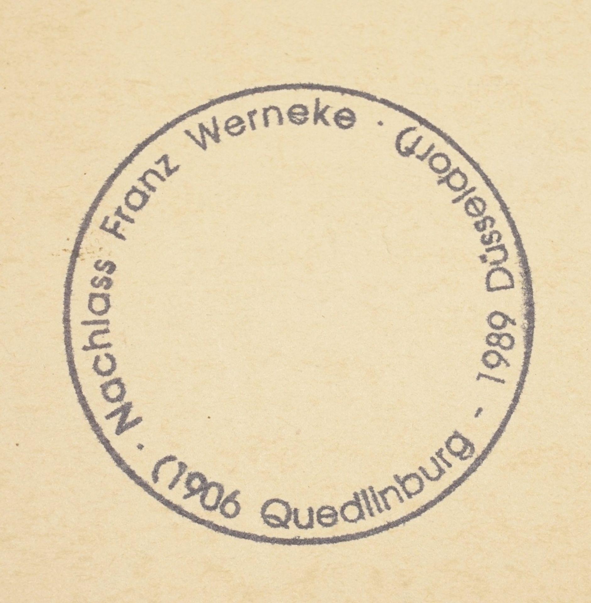 Franz Werneke, Sitzender weiblicher Akt auf grünem Sessel - Bild 4 aus 4