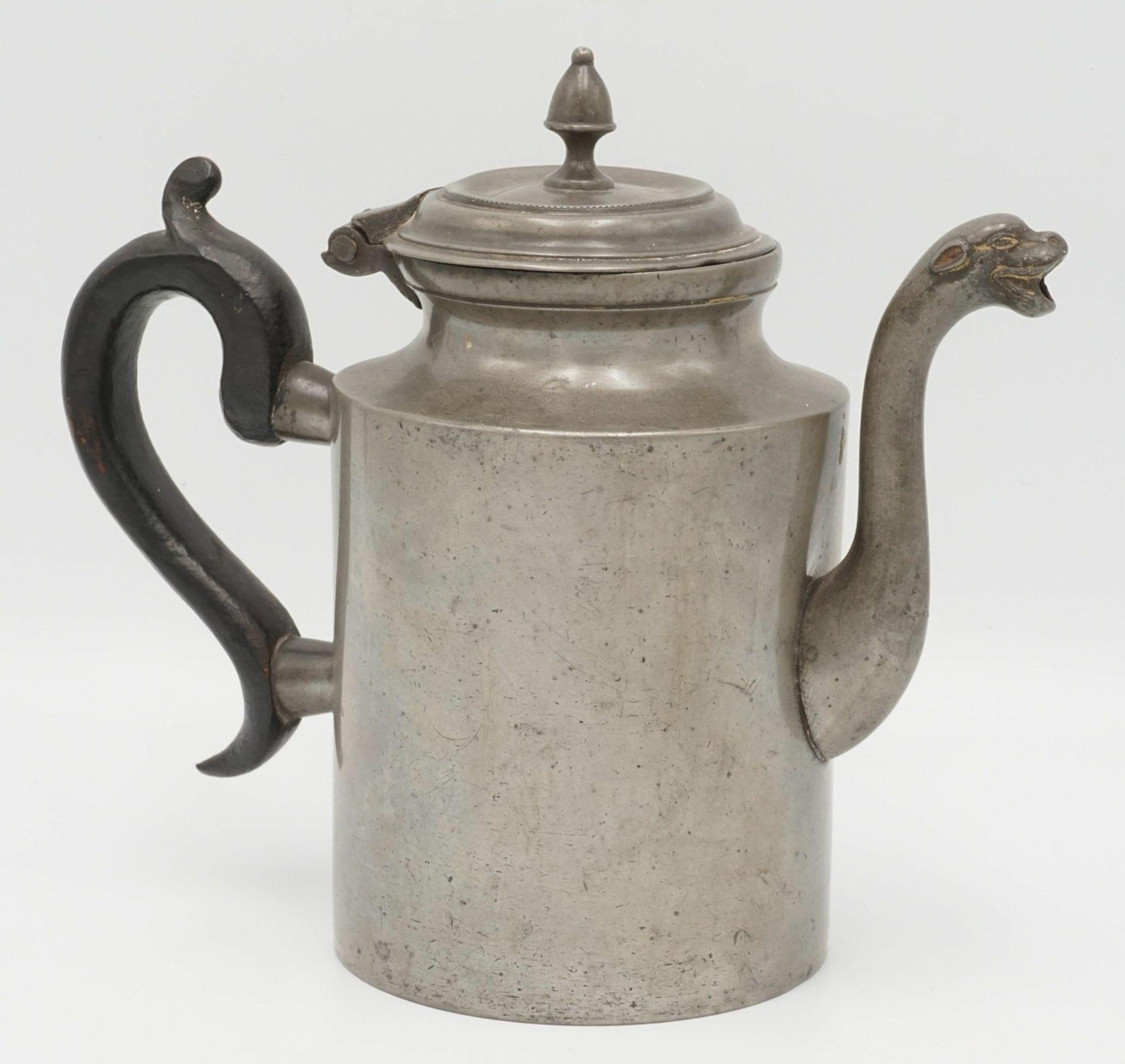 Biedermeier Zinnkanne, um 1840 - Bild 2 aus 3