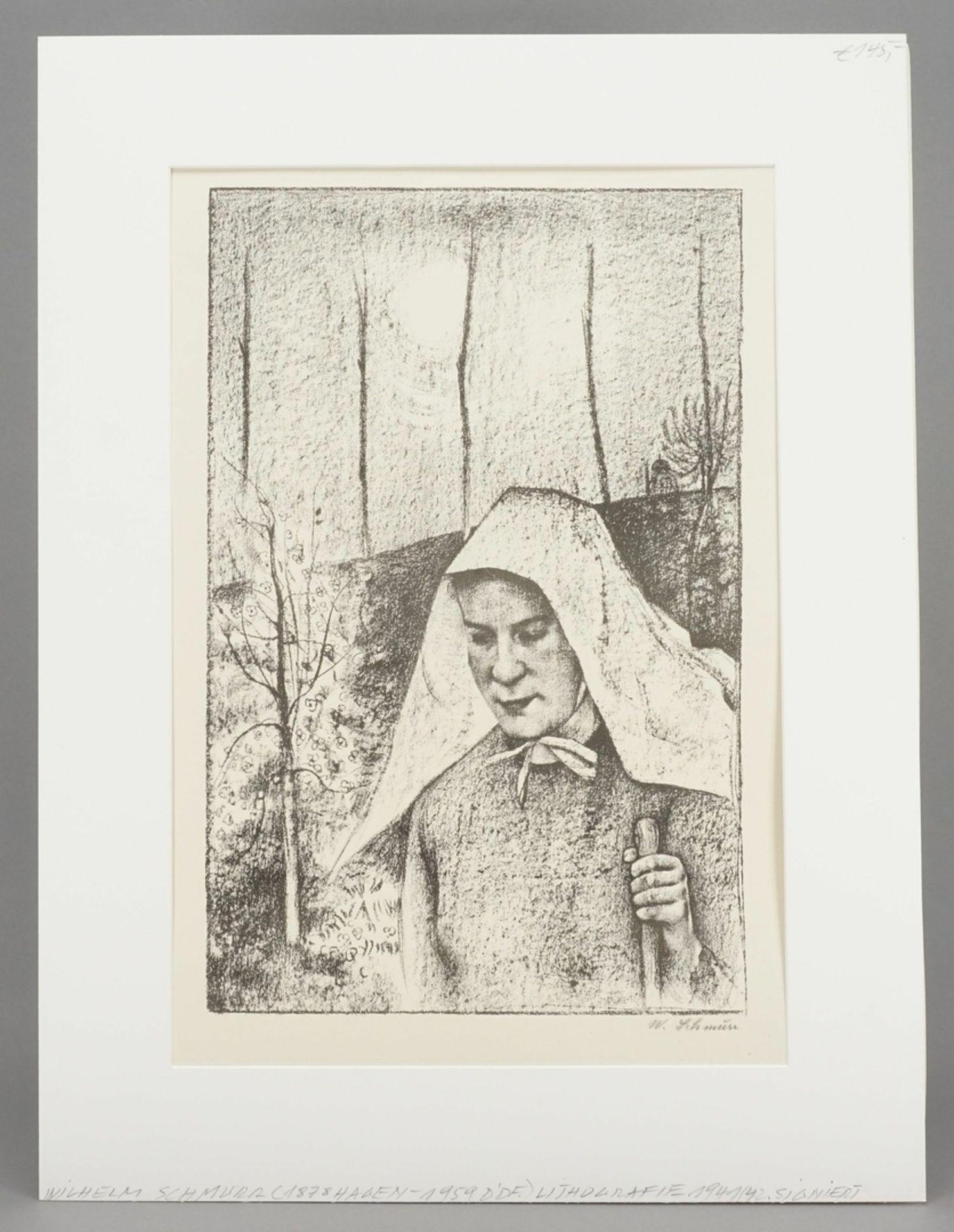 """Wilhelm Schmurr, """"Bäuerin mit Tuch"""" - Bild 2 aus 3"""