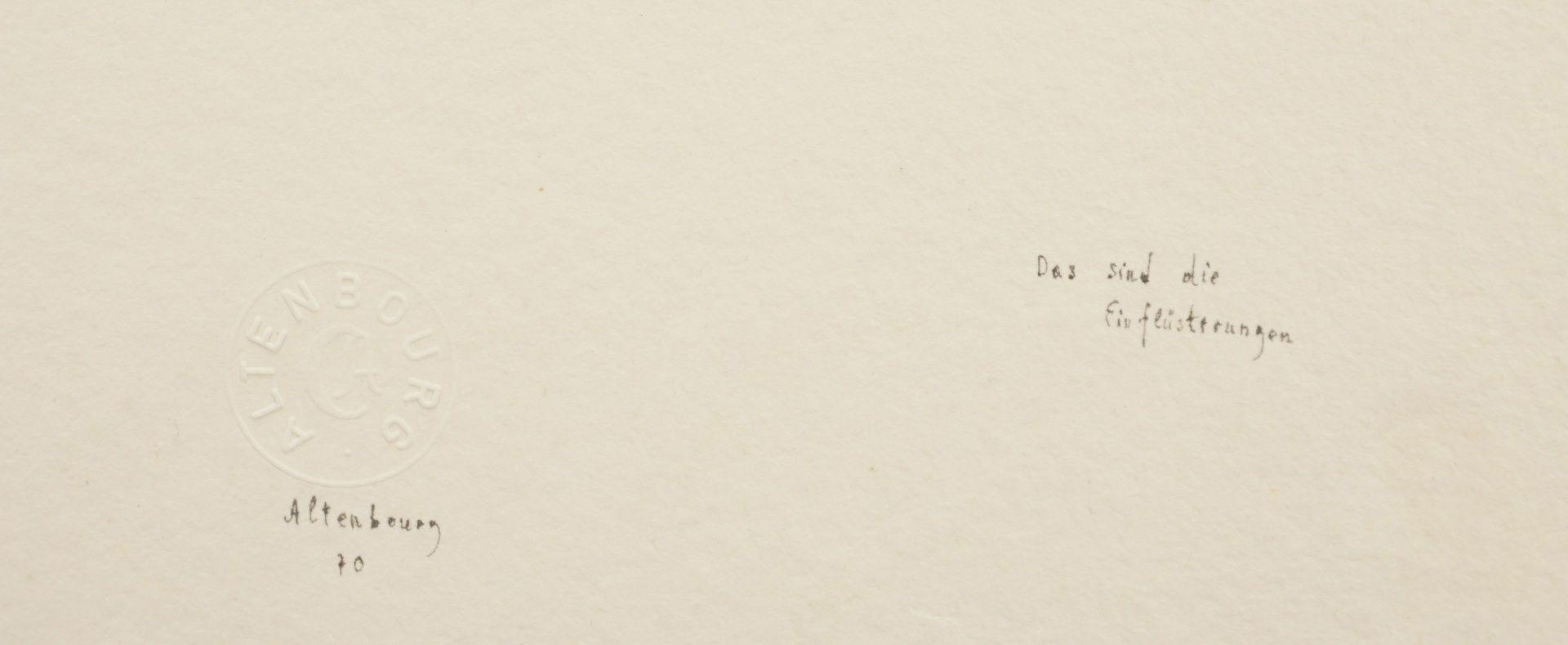 """Gerhard Altenbourg, """"Das sind die Einflüsterungen"""" - Bild 4 aus 4"""