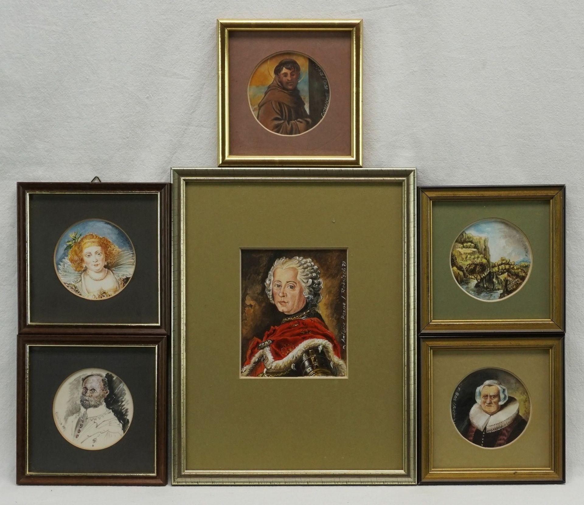 Rudolf Reinisch, Sechs Miniaturbilder
