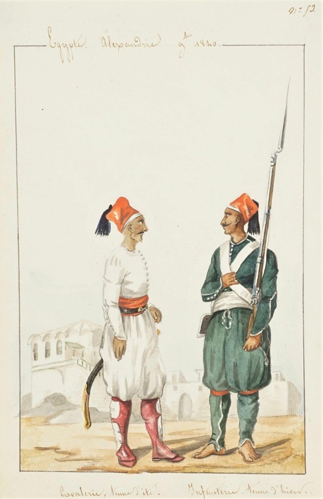Arman de Pasmond, Ägyptische Soldaten
