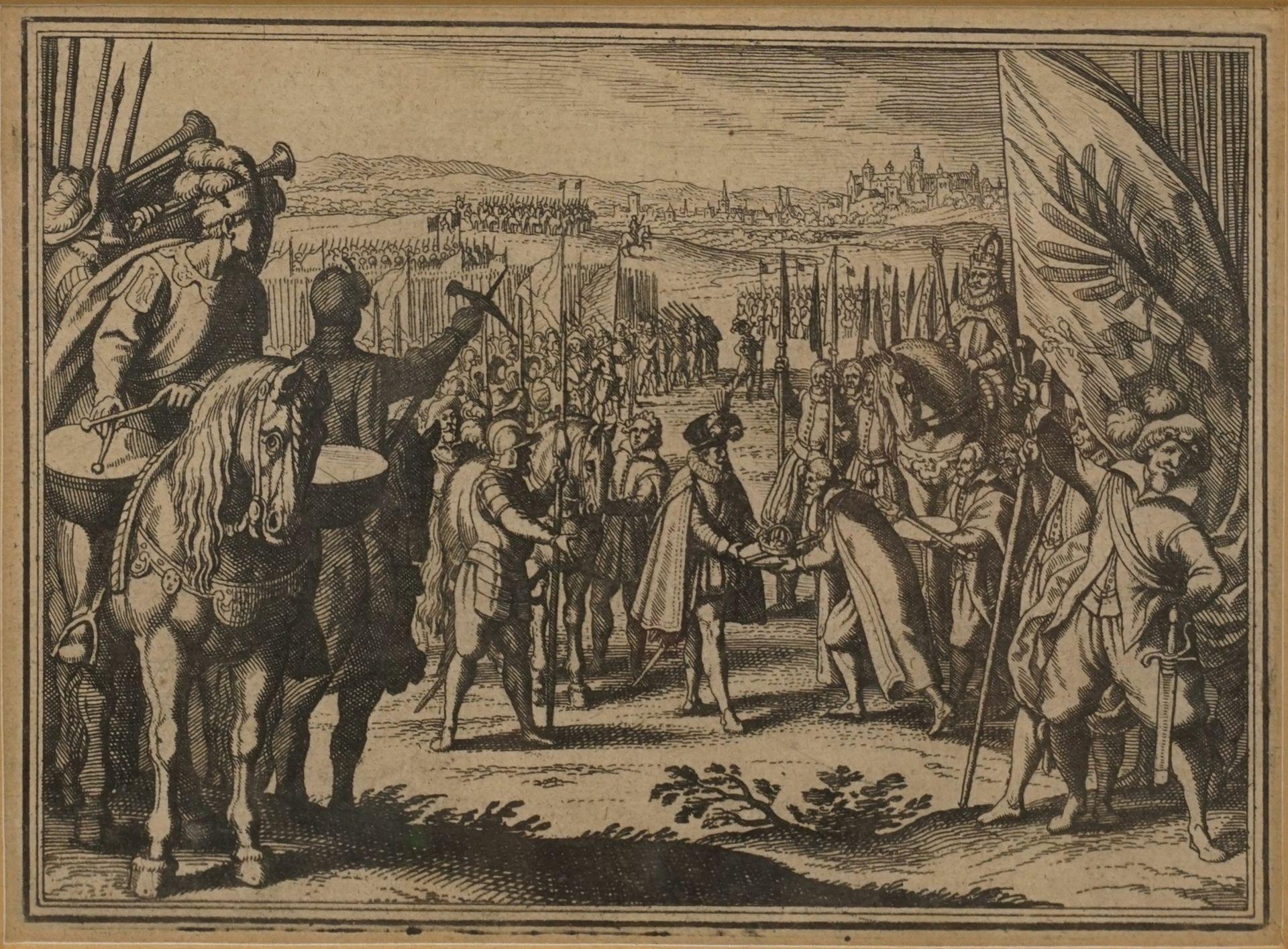 Matthäus Merian, Fünf Kupferstiche mit Schlachtenszenen - Bild 5 aus 6