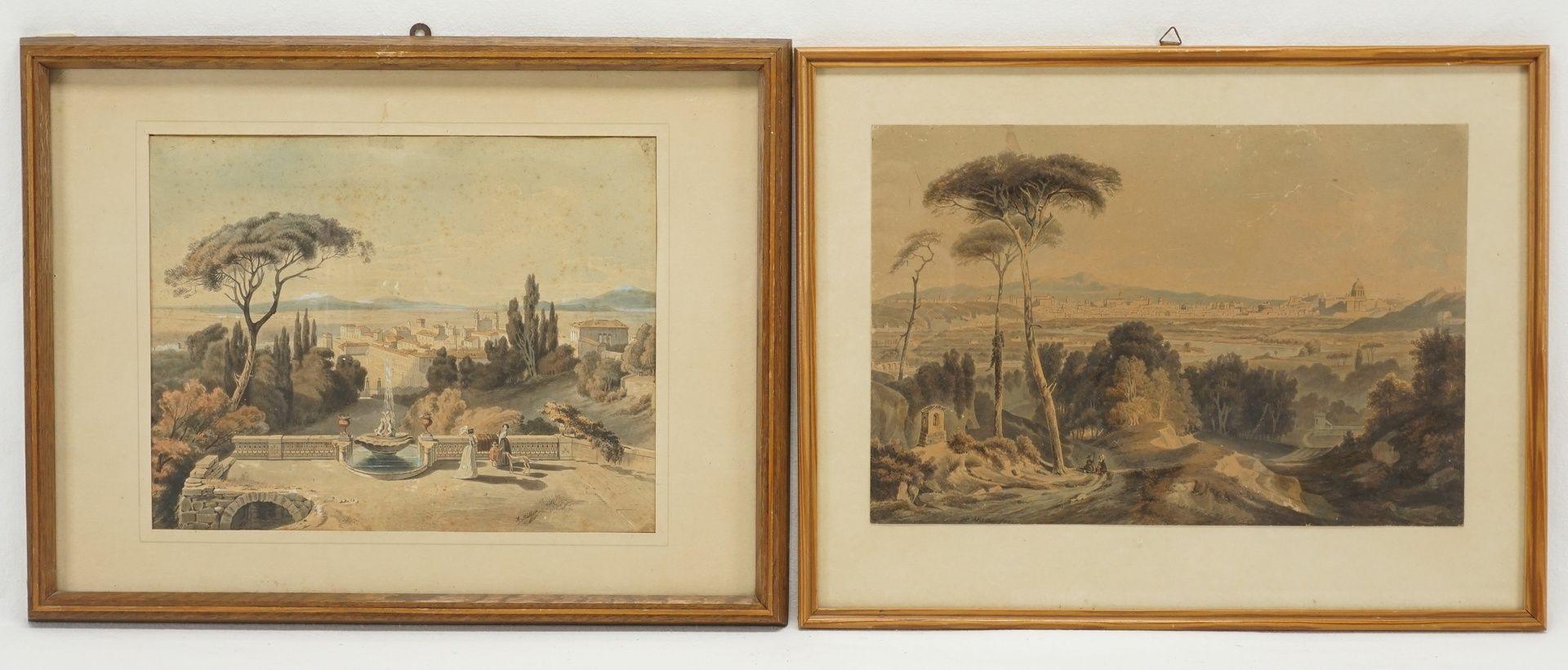 A. Müller, Zwei Lithografien